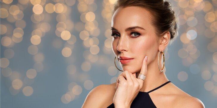 Kosmetické ošetření pleti včetně masáže obličeje a úpravy obočí a řas