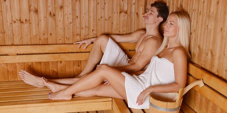 Wellness pro 2 nebo 8 osob: finská sauna, parní komora i vířivka