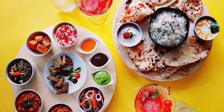 Bohaté indické menu i s míchaným drinkem pro libovolný počet osob