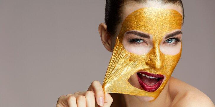 Vaše dvě hodiny pro krásu: masáž, kosmetika a zlatá maska