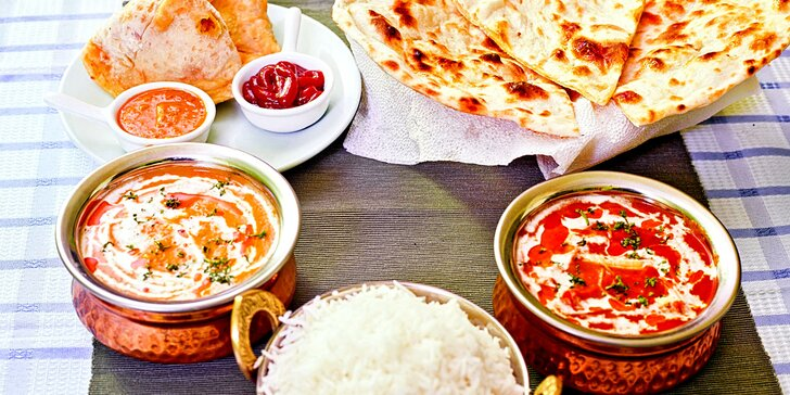 Otevřený poukaz v hodnotě 300 Kč do autentické indické restaurace