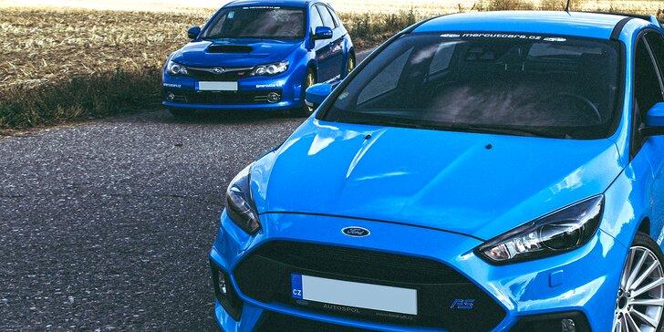 Staňte se jezdcem rally: jízda v Subaru Impreza WRX STi nebo Fordu Focus RS