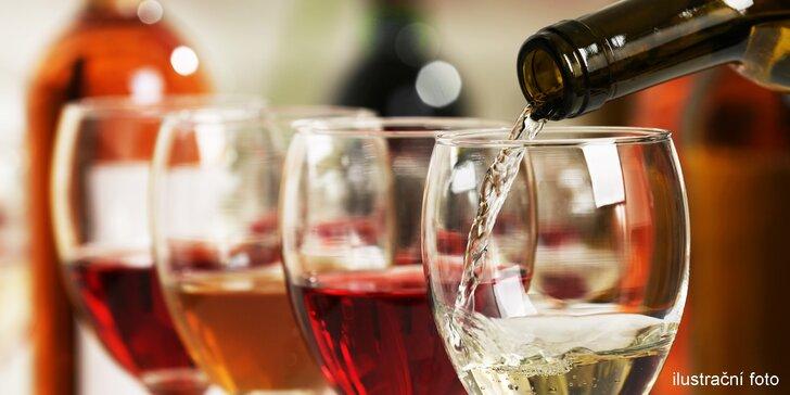 Dárkový voucher na libovolné víno i něco na zub ve sklípku Vinárium