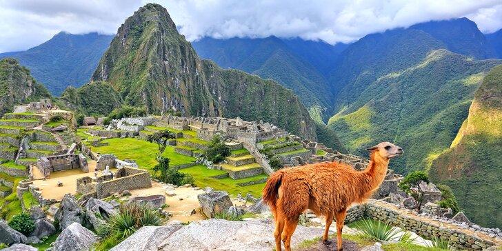 Záloha na letecký zájezd do Bolívie a Peru: 15× ubytování i bohatý program