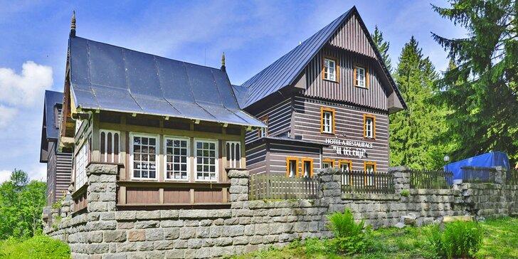 Lyžovačka či jarní pobyt ve Špindlerově Mlýně: polopenze i sauna