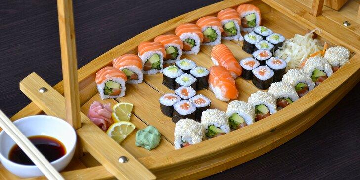 Sushi set v restauraci Mr. Wok: veganský, ale i závitky či ryby a kaviár