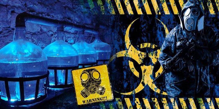 Únikovka Hrozba intoxikace: vyřešte úkoly a zachraňte svět až v 5 hráčích