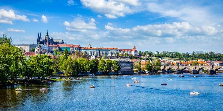 Pohodový 2–3denní pobyt pro dva v prosluněné Praze se snídaní