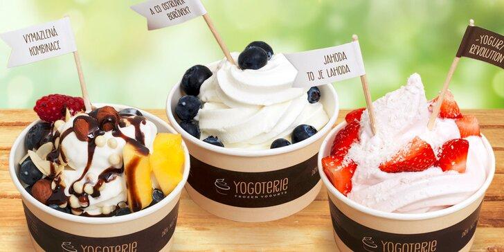 Zdravé mlsání: 200 gramů frozen yogurtu s ovocem a posypy dle vaší fantazie