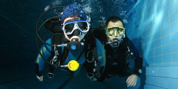 Ochutnávka potápění v nejhlubší potápěčské věži ČR: 30 minut pod vodou