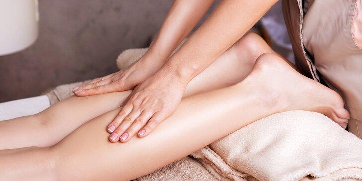 Odpočinek pro dámy: manuální lymfatická masáž nohou a hlavy