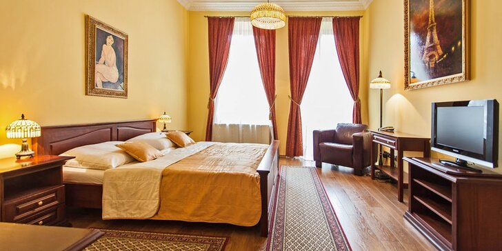 Romantika v centru Prešova: 4* hotel se snídaněmi, termíny do konce září