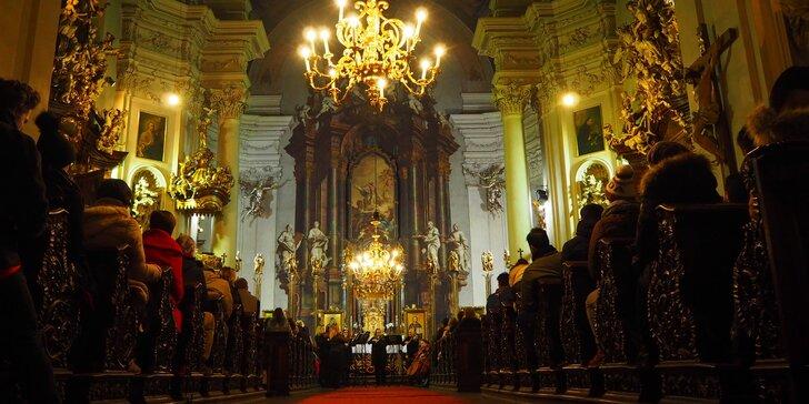 Vstupenka na romantické koncerty v katedrále u Karlova mostu