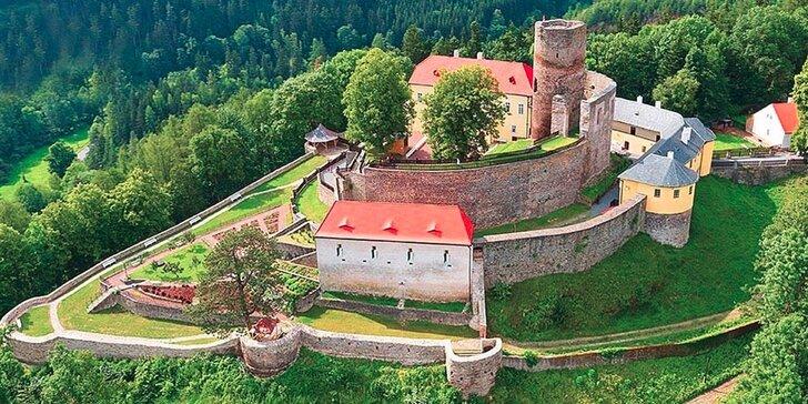 Dobrodružný pobyt na hradě Svojanov vč. prohlídky, 2 děti do 5,9 let zdarma