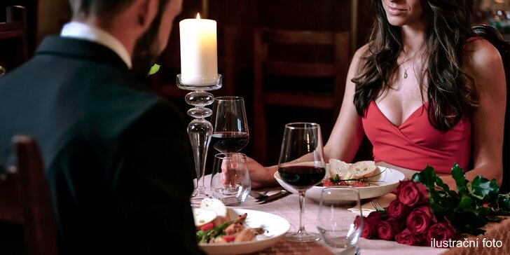 Romantické menu pro dva: prosecco, drůbeží paštika i kuřecí supreme