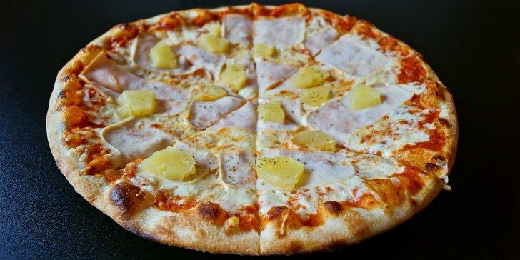 Liberecká Itálie: dvě křupavé pizzy o průměru 32 cm podle výběru