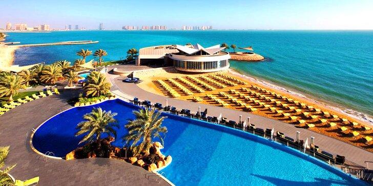 Exotická dovolená v Kataru: 4–11 nocí v 5* resortu s polopenzí, bazénem a spa
