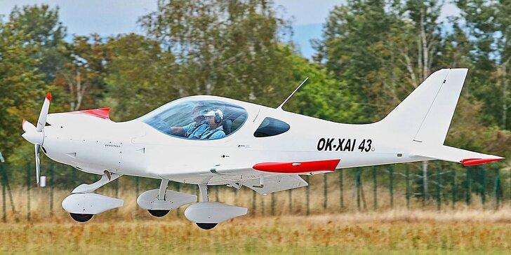 Let luxusním sportovním letadlem Bristell včetně pilotování