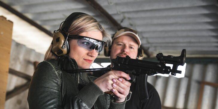 Střelba z pestré škály zbraní pro začátečníky i pokročilé střelce: až 80 výstřelů