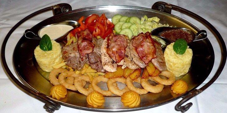 Rudolfovo fresh plato pro dva jedlíky v Golemově restaurantu