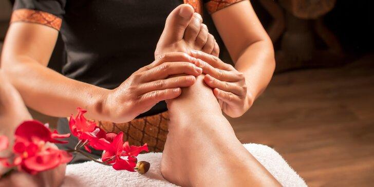 60minutová masáž od rodilých Thajek a relaxace s Garra Rufa