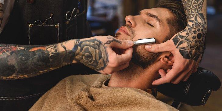 Kompletní barber péče pro pány: střih, masáž hlavy i holení břitvou