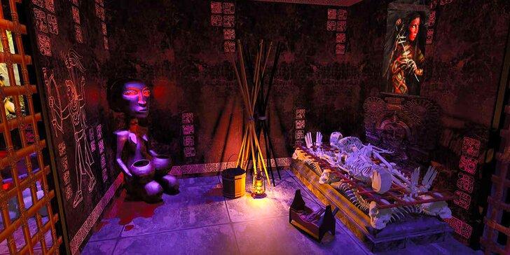 Hodinová mystická úniková hra s tematikou Aztéků pro 2 nebo 4 hráče