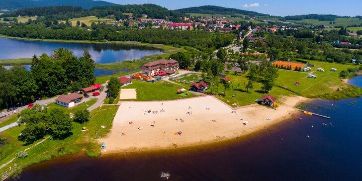 Klid u Lipna: pohodový pobyt u přehrady bez davů na 3–4 dny s polopenzí