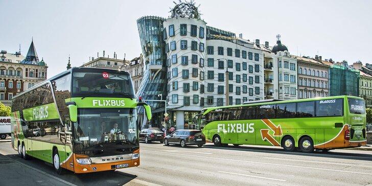20–40% sleva na FlixBus: jízdenky na lince Praha–Třebíč