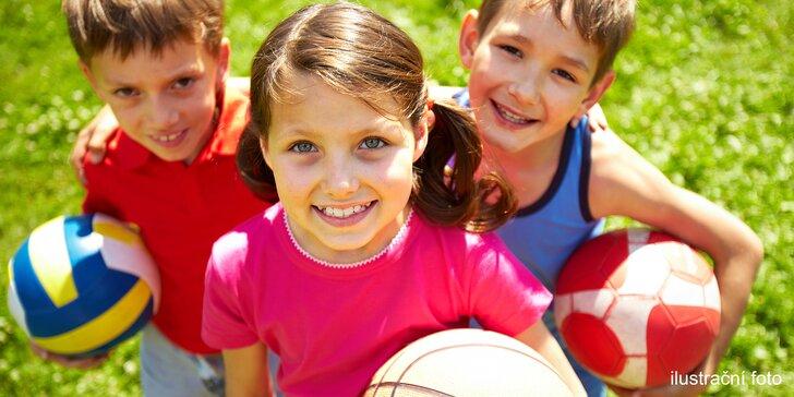 Druhý ročník příměstských táborů plných sportu pro děti od 6 do 15 let