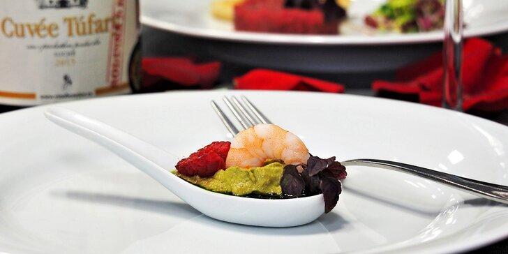 6chodové menu inspirované Provence: telecí tataráček, kachní prsa i sorbet