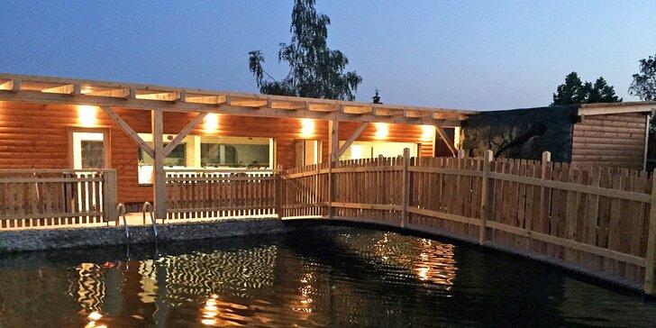 Soukromá chalupa poblíž Vranova až pro 14 osob: sauna s jezírkem i vířivka
