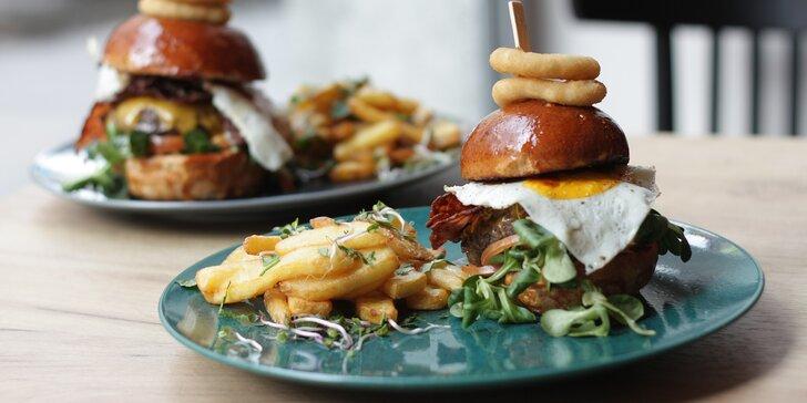 Pochutnejte si: 120g nebo 220g burger podle výběru na vyhlášené Stodolní
