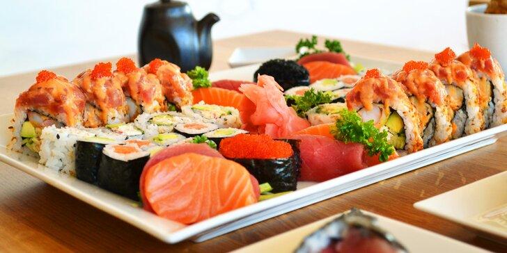 20, 24, 32 nebo 44 ks sushi: vegetariánské i s tuňákem, krabem nebo kaviárem