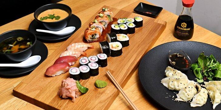 Degustační menu pro 2 v moderní japonské restauraci: sushi, polévka i Gyoza