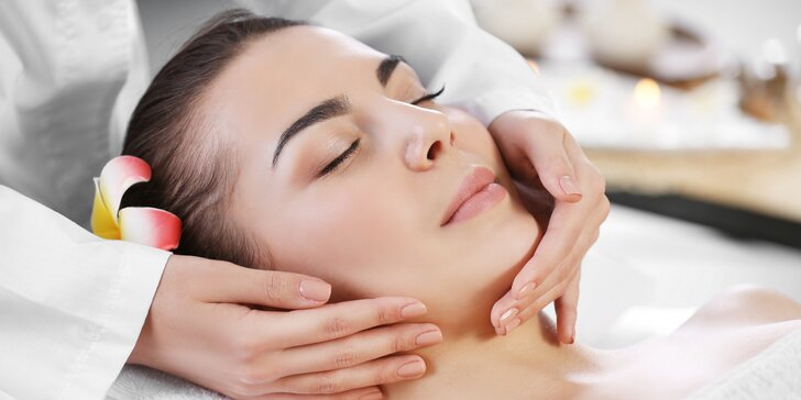 Božská hodina v ráji: masáž obličeje a hlavy, relaxace a nápoj