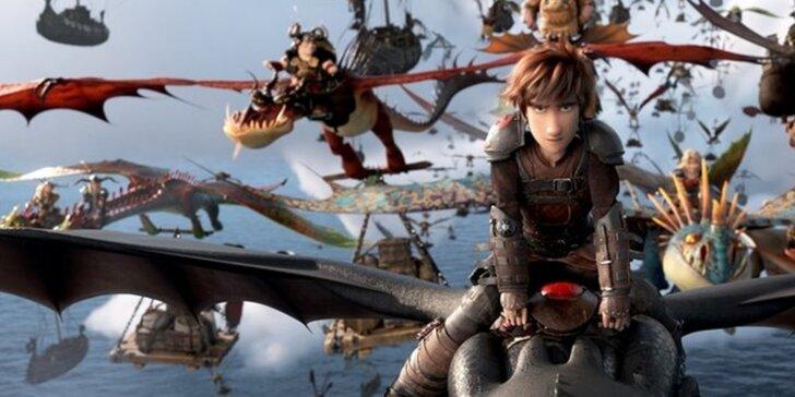 Vstupenka do kina na film pro děti Jak vycvičit draka 3 na Kinolodi