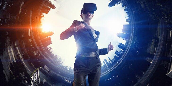 Zábava i napětí ve virtuální realitě na 15, 30 nebo 60 minut