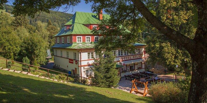 Ubytování v srdci Krkonošského národního parku: až 6 nocí s polopenzí