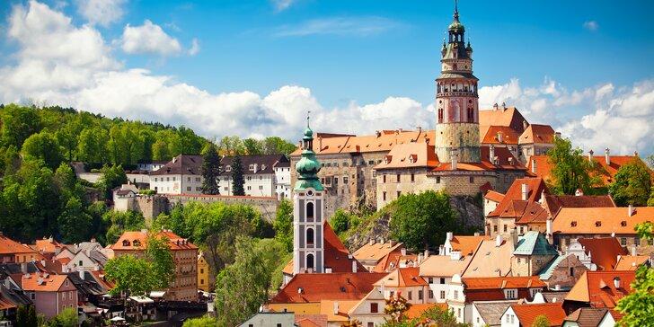 Dovolená v Českém Krumlově: pobyt v centru města během hlavní sezóny