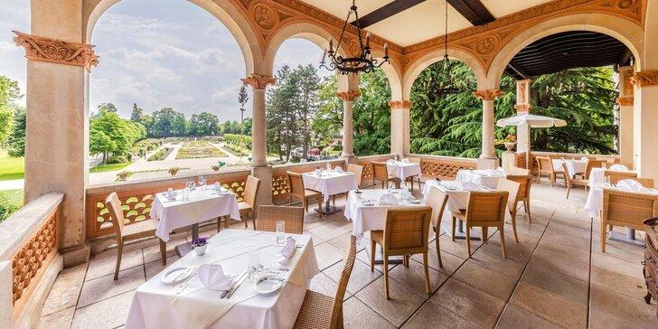 4* zámecký hotel v rakouském lázeňském Badenu s neomezeným wellness