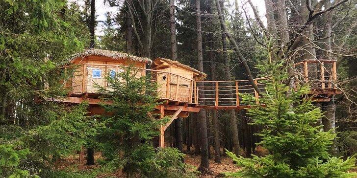 Romantika v korunách stromů: vyhlídkový posed na Šumavě až pro 4 osoby