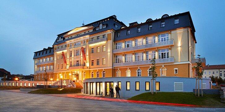 Luxusní lázeňský pobyt s procedurami v 4* hotelu ve Františkových Lazních