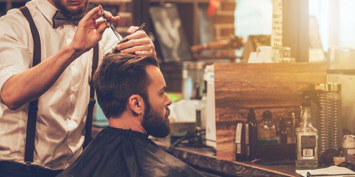Pánský střih, úprava vousů či chlapecký střih v barber shopu v centru Prahy
