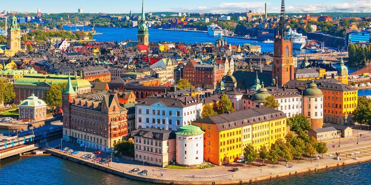 Stockholm–Benátky severu: Letecky z Prahy s průvodcem na 3 noci se snídaní