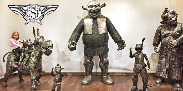 Galerie ocelových figurín: úžasný svět sci-fi, pohádek, komiksů, luxusních aut
