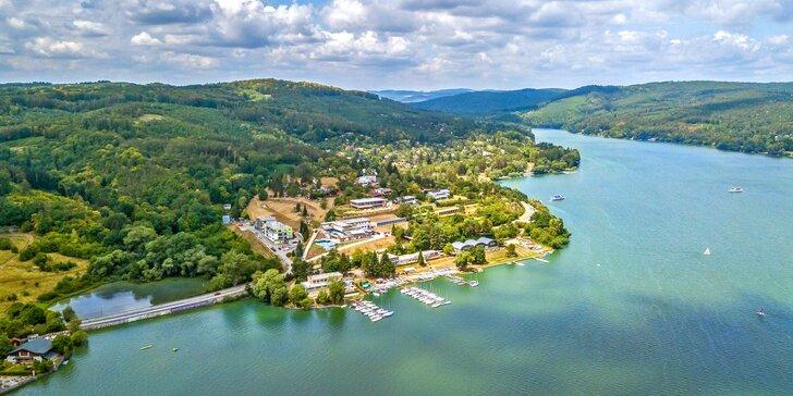 Relax na břehu Brněnské přehrady s polopenzí, masáží i plavbou parníkem
