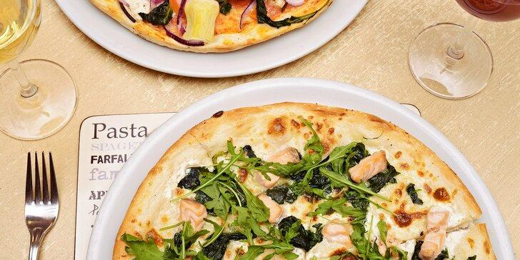 1 nebo 2 pizzy v restauraci Vabene a nealkoholický nápoj ke každé z nich