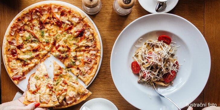Zažeňte hlad italskými dobrotami: Pizza nebo pasta dle výběru pro dva