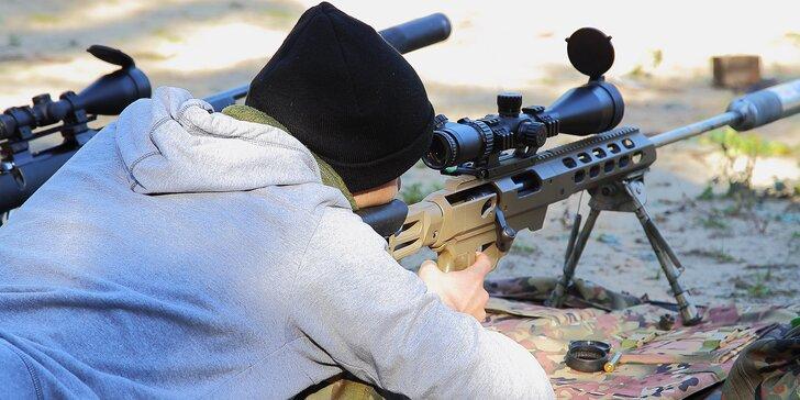 Střelecký balíček Sniper: 3hodinový kurz střelby vč. maskování a balistiky